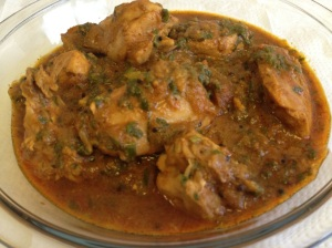 Chicken Curry with Spinach 1