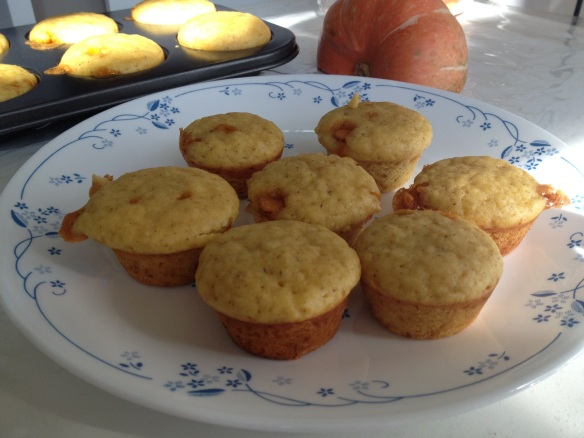 Low fat pumpkin apple muffin