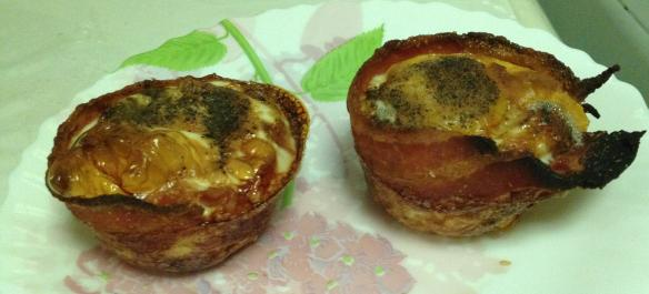 Baked Egg in Bacon Cup