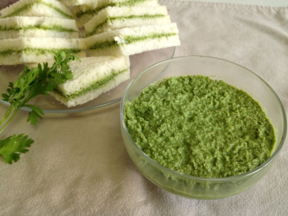 Green Chutney for Sandwiches 1
