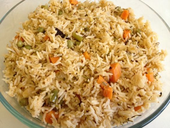 Vegetable Biriyani 1