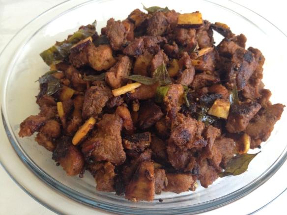 Beef Ularthiyathu (Beef Fry)