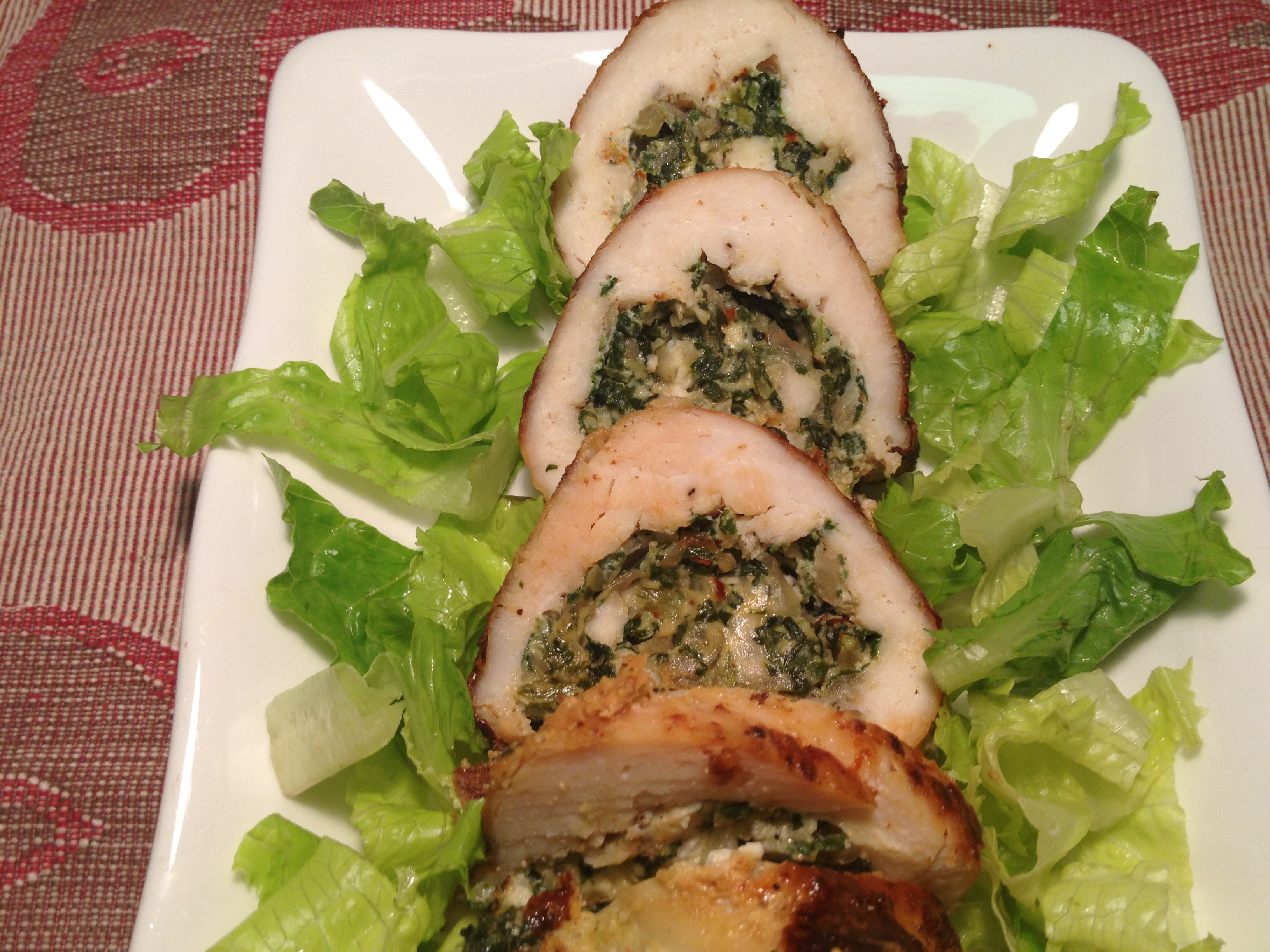 Chicken Roulade with Spinach and Feta Cheese | easy ...