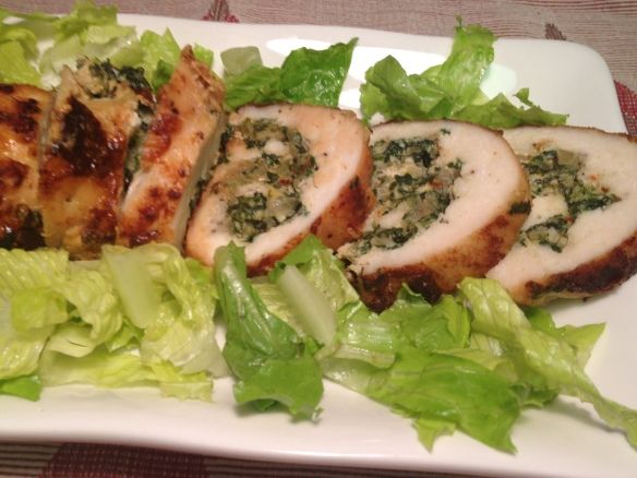 Chicken Roulade with Spinach and Feta 2
