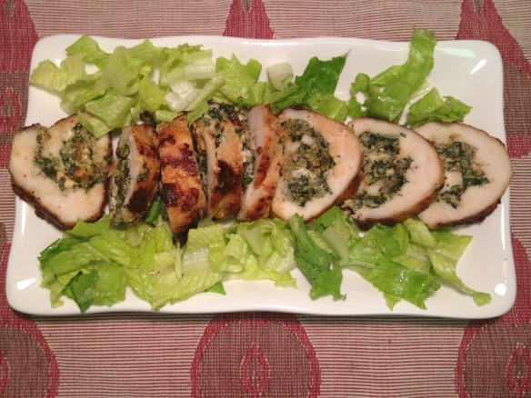Chicken Roulade with Spinach and Feta Cheese