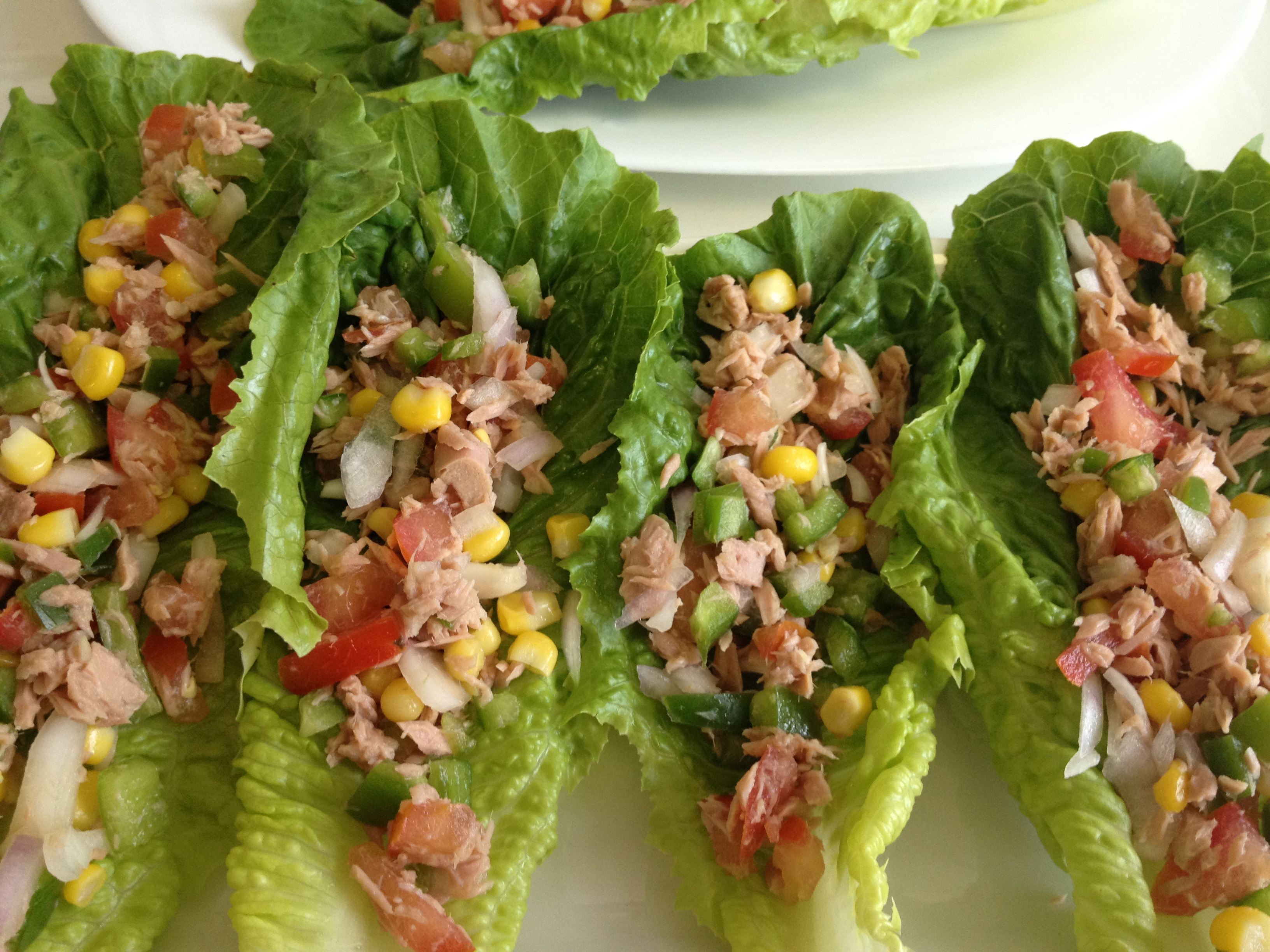Tuna Salad Lettuce Wraps With Capers And Tomatoes Recipes — Dishmaps