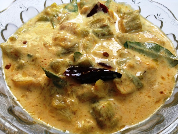 Chembu Thandu Kalan (Colocasia Stem in Yogurt Gravy)
