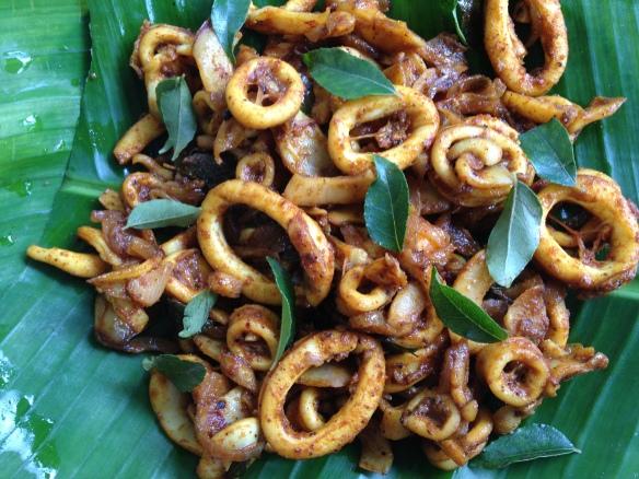Nadan Kanava Ularthiyathu (Kerala Squid Roast)