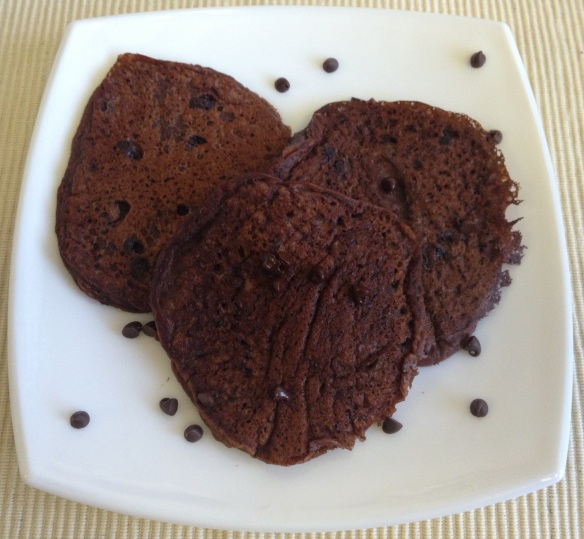 Chocolate Flaxseed Pancake