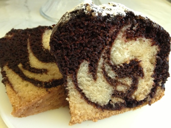 Eggless Marble Cake /Chocolate & Vanilla