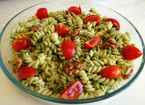Walnut Pesto Pasta Salad