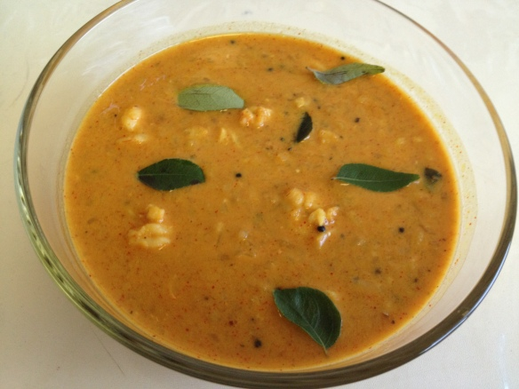 Prawns with moong dal