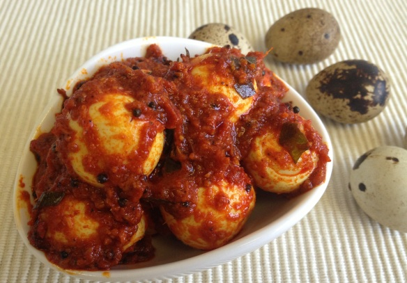 Kada Mutta Achar (Quail Eggs Pickle)