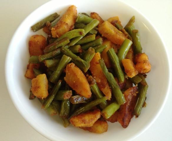 Punjabi Aloo Beans 1