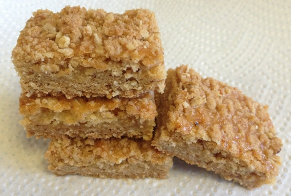 Oats and Orange Caramel Bars 1