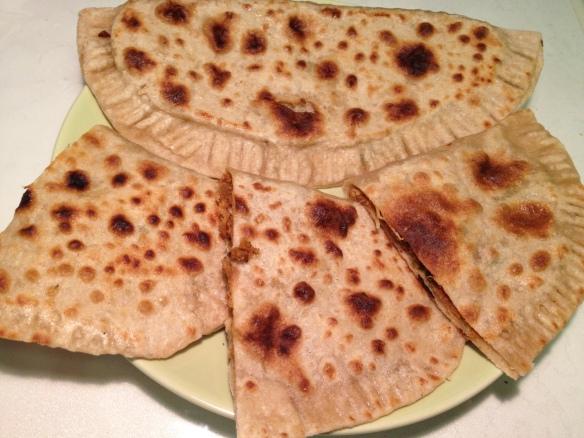 Kheema and Soyabean stuffed paratta