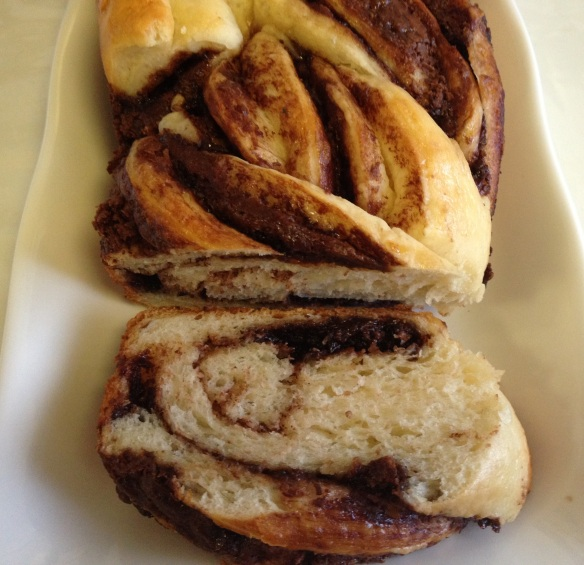 Nutella Braid Loaf