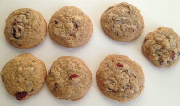 Walnut cranberry and choco chip cookies