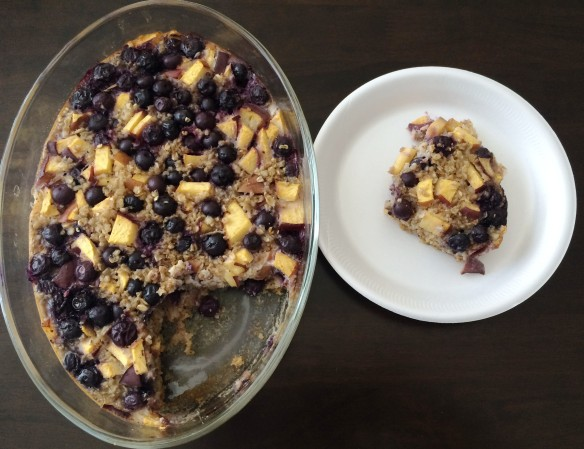 Blueberry Peach Oats Breakfast Bars
