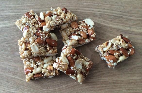 Almond peanuts quinoa Energy Bars 1