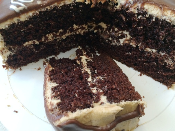 Chocolate Cake with Peanut Butter Frosting 1