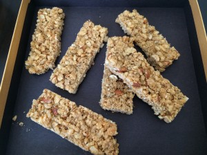 Crispy Honey Granola Bars 1