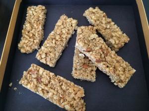 Crispy Honey Granola Bars 1