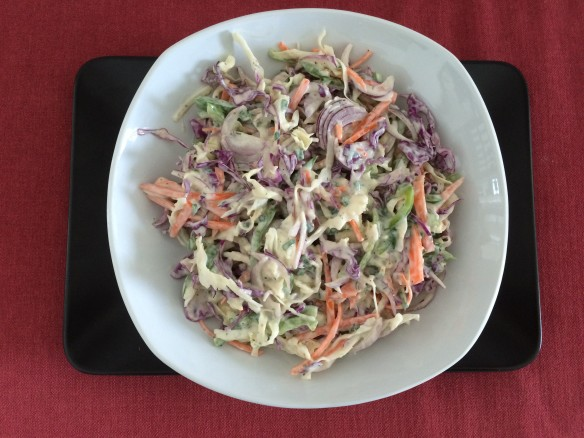 Ranch flavoured coleslaw