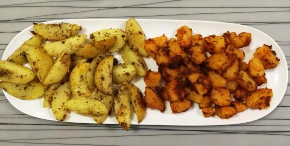 Baked potatoes 2 ways