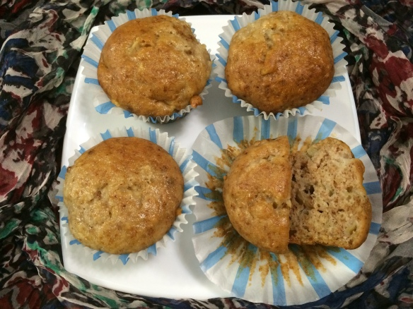 Eggless Apple Banana Muffin