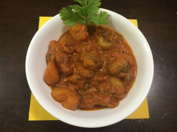 Mushroom potato curry